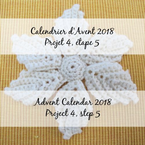 Advent Calendar 2018 – Flower 4, step 5